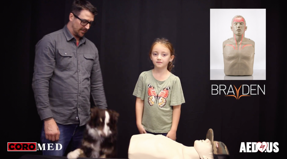 Brayden CPR Manikin Demo: A Mock Save with Charlee Rose - AED.US BLOG