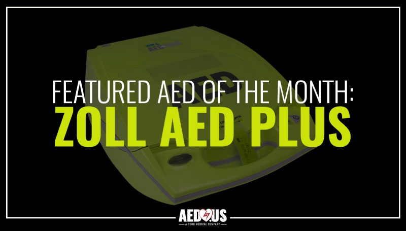 ZOLL AED Plus with a black background