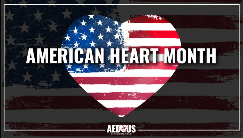 American flag heart with American flag background