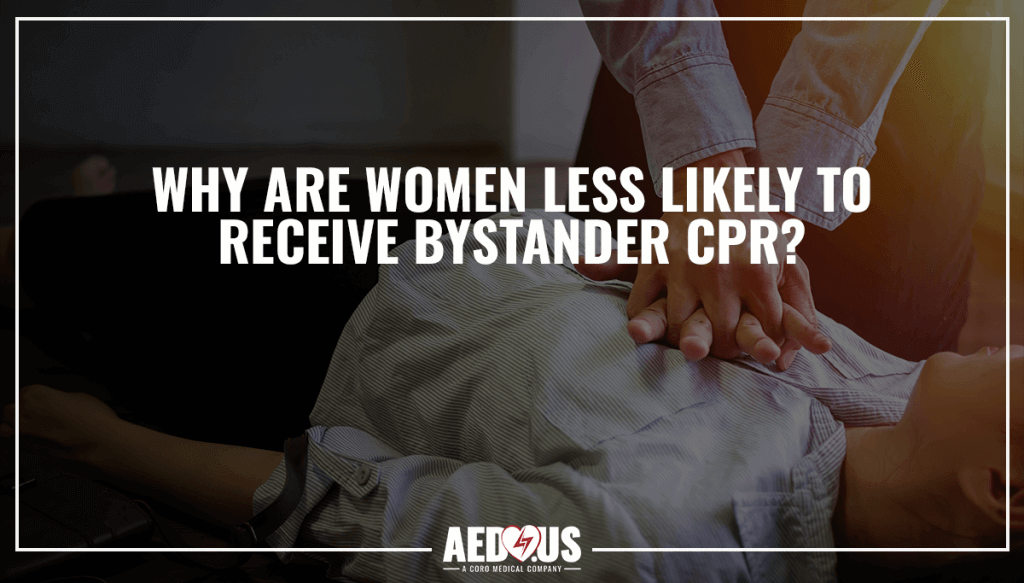 """Man giving woman CPR. """"Why are women less likely to deserve CPR?"""" blog"""