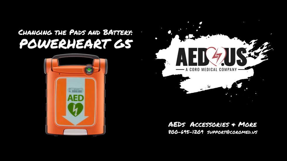 How to change pads and battery on powerheart G5 AED