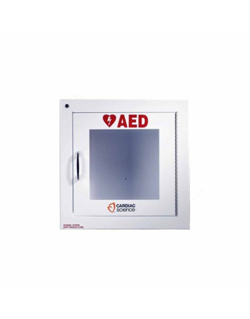 Cardiac Science Aed Wall Cabinet: Surface Mount With Alarm, Security Enabled