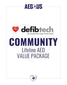 Defibtech Lifeline AED Community / Public Access Value Package