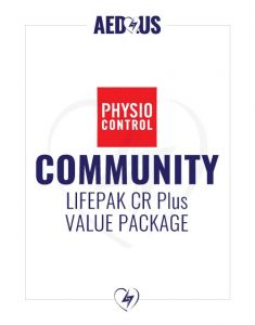 Physio-Control LIFEPAK CR Plus AED Community / Public Access Value Package
