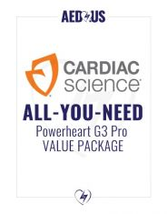 """Cardiac Science Powerheart AED G3 Pro """"All-You-Need"""" Value Package"""