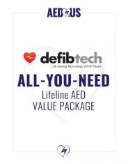 """Defibtech Lifeline AED """"All-You-Need"""" Value Package"""