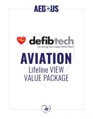 Defibtech Lifeline VIEW/ECG AED Aviation Value Package