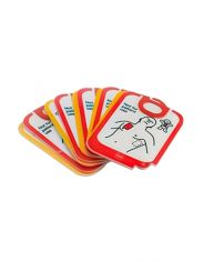 Physio-Control LIFEPAK CR2 AED PADS, REPLACEMENT, TRAINER, LPCR2, 5 Sets