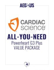 """Cardiac Science Powerheart AED G3 Plus """"All-You-Need"""" Value Package"""