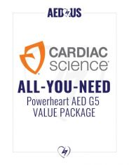 """Cardiac Science Powerheart AED G5 Plus """"All-You-Need"""" Value Package"""