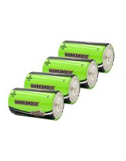Physio-Control LIFEPAK CR2 AED BATTERY, D-CELL, TRAINER, LPCR2, Pack of 4