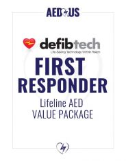 Defibtech Lifeline AED First Responder Value Package