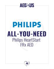 """Philips HeartStart FRx AED """"All-You-Need"""" Value Package"""