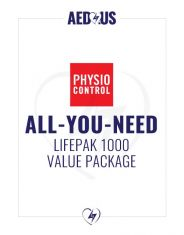 """Physio-Control LIFEPAK 1000 AED """"All-You-Need"""" Value Package"""