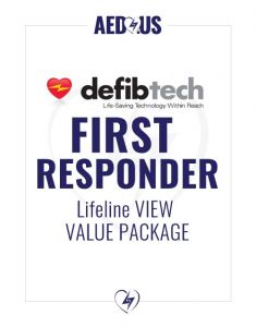Defibtech Lifeline VIEW AED First Responder Value Package