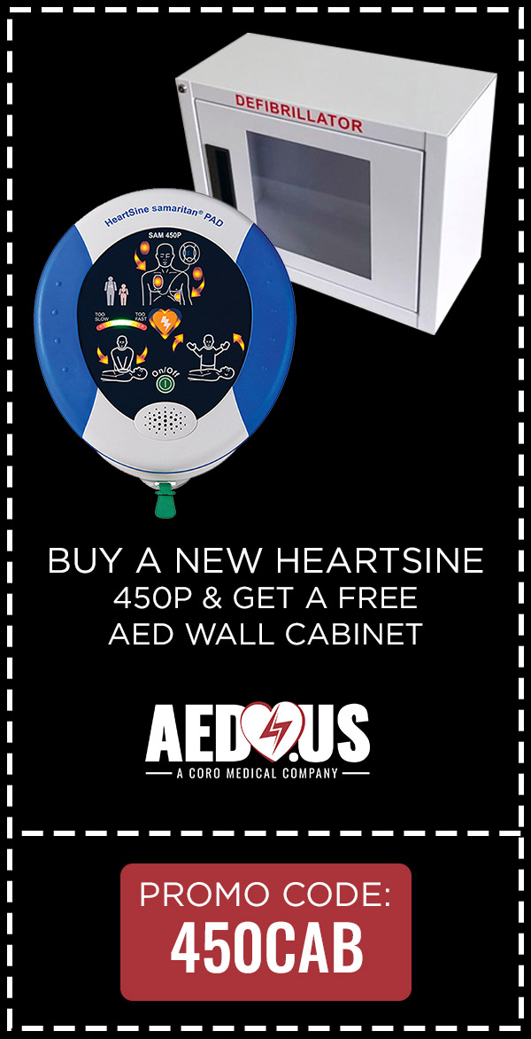 Buy Heartsine 450, Get a Free Wall Cabinet