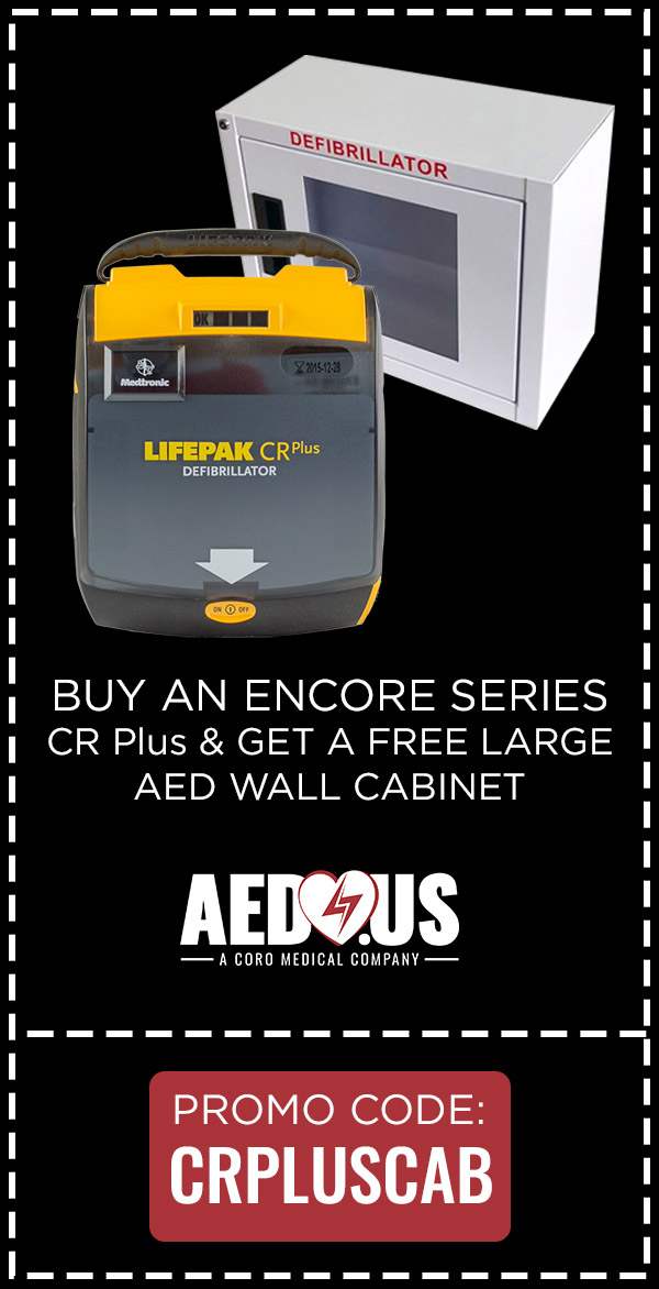 Buy CR Plus AED, Get a Free Wall Cabinet