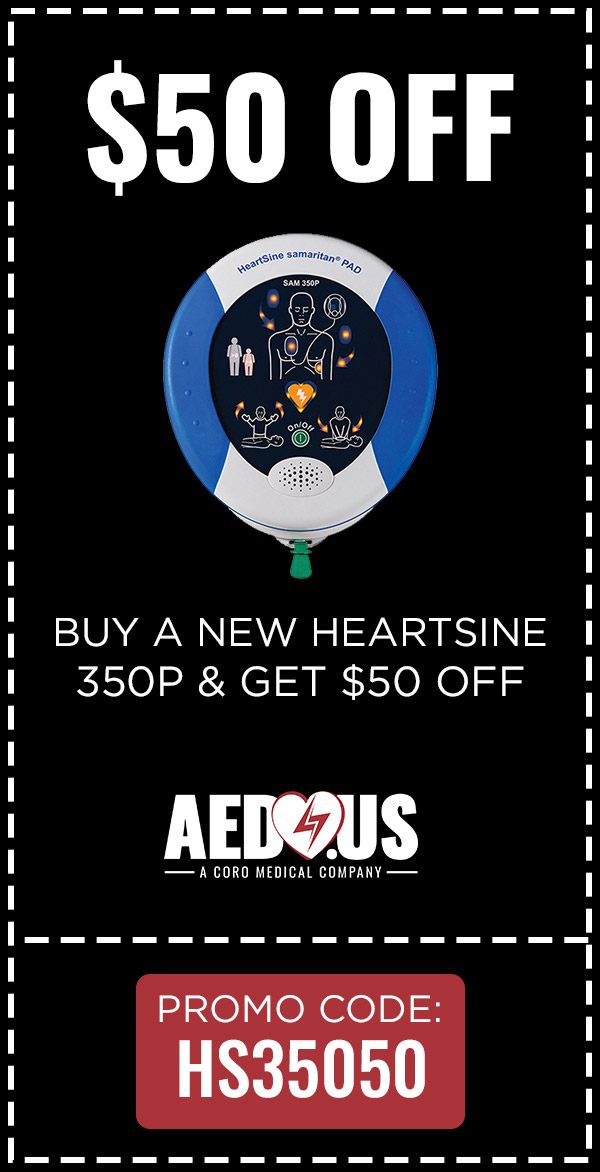 Get $50 OFF when Purchasing HeartSine 350