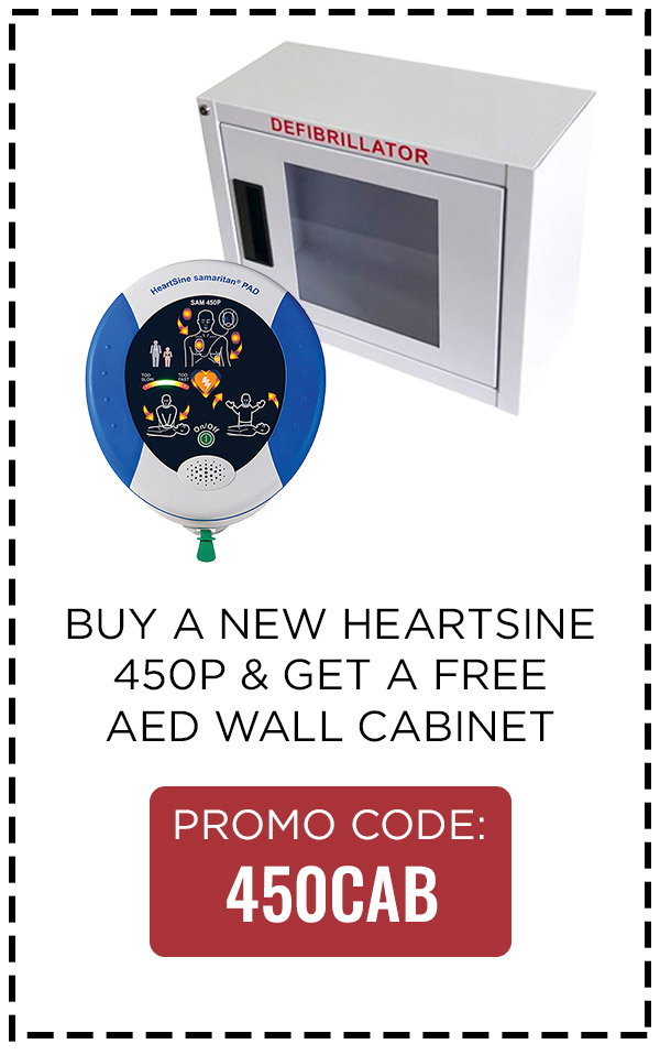 Buy Heartsine 450, Get a Free Wall Cabinet