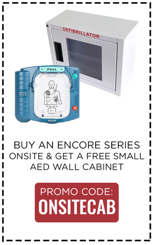 Buy OnSite AED, Get a Free Wall Cabinet