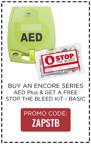 Buy ZOLL AED Plus, Get Free Stop the Bleed Kit