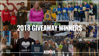 AED Giveaway Winners 2018